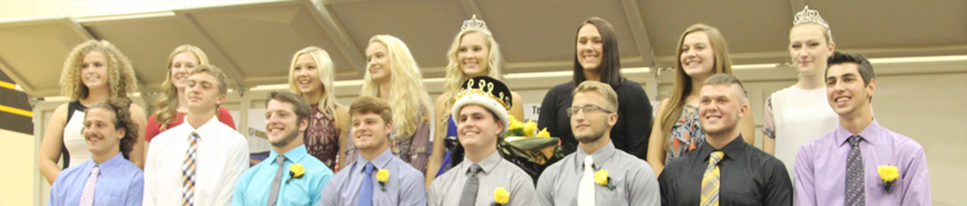 High School Banner Homecoming Court